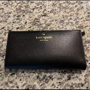 Kate Space Black Leather Cameron Wallet